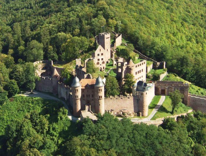 Burg Wertheim Luftaufnahme